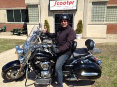 Here's Robert B from Milford (by way of Manchester England) picking up his pre-owned 2009 Kawasaki Vulcan 1700! He's very happy with his new motorcycle and we're happy to have helped him find it! Cheers!   #Vespa #VespaHartford #Scooter #ScooterCentrale #Kawasaki #Vulcan #Cheers #Fun #Smile #ThumbsUp