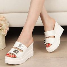 Jeweled Wedge Mule Sandals from #YesStyle <3 Zandy Shoes YesStyle.com