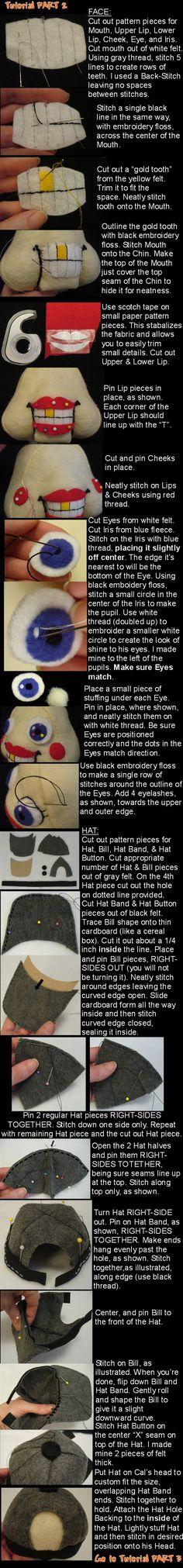 Lil Cal sewing tutorial Part 2 by lishlitz.deviantart.com on @deviantART