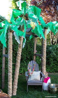 DIY Palm Tree Party Decor