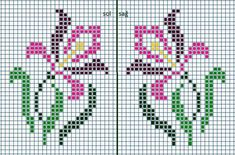 This Pin was discovered by Nec Mini Cross Stitch, Cross Stitch Borders, Cross Stitch Flowers, Cross Stitch Charts, Cross Stitch Designs, Cross Stitching, Cross Stitch Embroidery, Embroidery Patterns, Cross Stitch Patterns