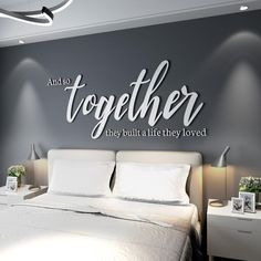 Bedroom Decor For Couples, Home Decor Bedroom, Teen Bedroom, Bedroom Modern, Decor Room, Master Bedrooms, Modern Wall, Couple Room, Family Wall Decor