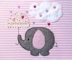 Stickmuster - Elefant im Herzregen Doodle Stickdatei - ein Designerstück von feinliebshop bei DaWanda