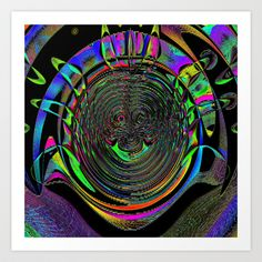 Watching U Art Print by David  Gough - $15.00