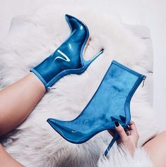 Perixir Hot Sale New New Women PVC ankle Boots Super high heels women shoes sexy Transparent boots Pointed toe crystal handmade High Heels Boots, Hot Heels, Pumps Heels, Heeled Boots, Stiletto Heels, Shoe Boots, Women's Shoes, Shoes Sneakers, Ego Shoes