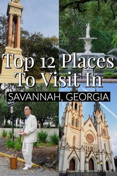 I LOVE Savannah Georgia! It's the iconic southern town and has so much history! This posts really does cover EVERYTHING you need to know when visiting Savannah Georgia. Including stuff outside the city to check out too! Savannah Georgia things to do Savannah Georgia Travel, Visit Savannah, Savannah Chat, Atlanta Travel, New Orleans, New York, Cool Places To Visit, Places To Travel, Places To Go