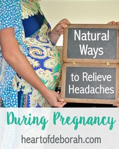 Do you suffer from headaches during pregnancy? If you want to avoid taking extra medicine try one of these natural remedies to relieve headaches during pregnancy!