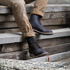 Java waxed flesh boot made in the USA by Truman Boot co.