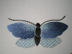 #6 of 7 Also see my EMBRODERY TUTORIALS board. Threads Across the Web: Flutterbies threadsacrosstheweb.blogspot.co.uk