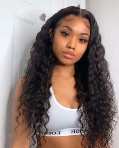 Baddie Hairstyles, Weave Hairstyles, Cabelo 3c 4a, Curly Hair Styles, Natural Hair Styles, Natural Curls, Curly Hair Problems, Curly Lace Front Wigs, Business Hairstyles
