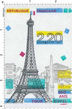 Timbre : 1989 100 ANS TOUR EIFFEL | WikiTimbres
