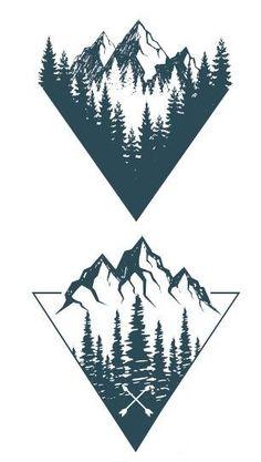 Waterproof Temporary Fake Tattoo Sticker Grey Geometric Mountain Forest Triangle… Waterproof Temporary Fake Tattoo Sticker Grey Geometric Mountain Forest Triangle – tattoo new – Dreieckiges Tattoos, Fake Tattoos, Small Tattoos, Sleeve Tattoos, Tattoos For Guys, Tattoo Sleeves, Tatoos, Random Tattoos, Pretty Tattoos