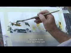 PEOPLE AT WORK watercolours: Joseph Zbukvic - YouTube