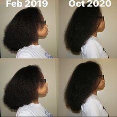 Natural hair growth progress
