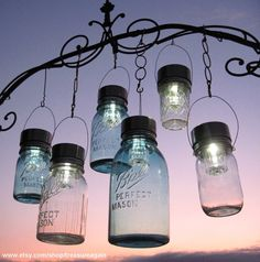 Solar Mason Jar Lights!