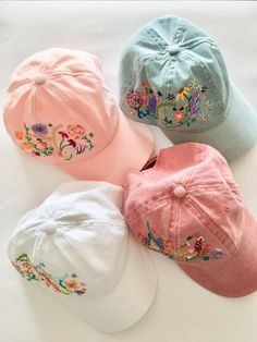 00f5debb5a378 Hand Embroidered Flower Ladies Baseball Cap