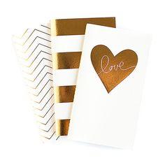Notebooks - Gold Foil (Set of 3)