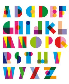 These are really fun geometric shapes that create letterforms. Typo Design, Lettering Design, Hand Lettering, Graphic Design, Geometric Font, Geometric Shapes, Cool Typography, Typography Fonts, Schrift Design