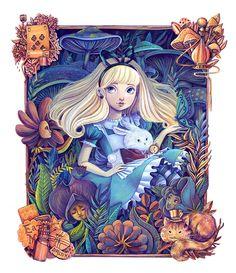 """Confira este projeto do @Behance: """"Alice in the Garden"""" https://www.behance.net/gallery/37651257/Alice-in-the-Garden"""