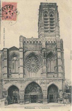 Notre Dame, France, Architecture, Building, Travel, Antique Post Cards, Arquitetura, Viajes, Buildings
