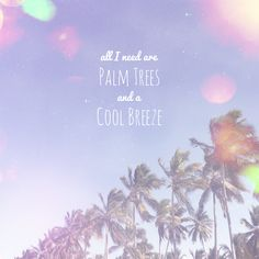 All I need are palm trees and a cool breeze.