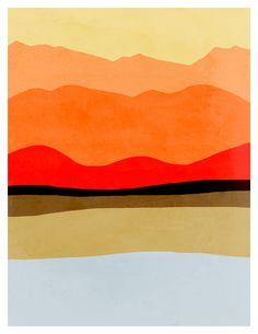 Minimal Art Print Abstract Landscape Art Minimalist by evesand, $18.00