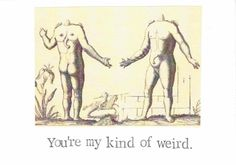 You're My Kind Of Weird Valentine Card  Love Nerdy by ModDessert