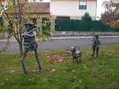 Resultado de imagen para esculturas en chapa para jardin