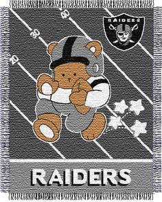 "Oakland Raiders Baby Series 36"" x 46"" Throw Blanket"