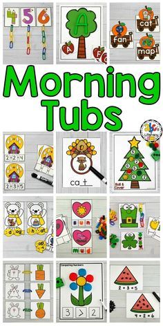 Are you looking for a new morning routine? This Morning Tubs Bundle is a set of fun, hands-on