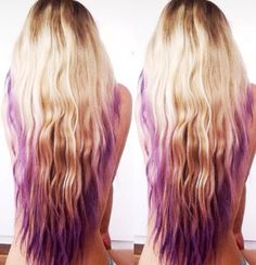 Purple DipDye Blonde Long Hair