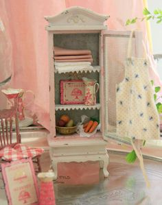 A beautiful painted armoire from Margaret on  Etsy.