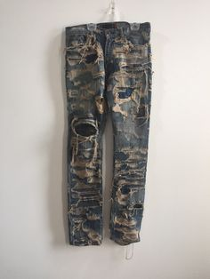 Buy Undercover Arts & Crafts 85 Denim, Size: Description: Perfect Condition With No Flaws Size 2 Fit Grail Piece Possibly The Most Rare And Sought After Undercover Jeans Not In A Rush To Sell, Seller: danielevite, Location: United States Mens Alternative Clothing, Post Apocalyptic Costume, Cholo Style, Denim Ideas, Fit 30, Patched Jeans, Denim Patchwork, Light Jacket, Vintage Jeans