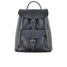 Grafea Pepper Small Leather Rucksack - Black: Image 01