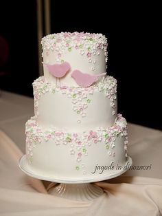 Two birds wedding cake | Flickr - Photo Sharing!