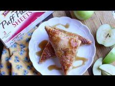 Caramel Apple Turnovers - YouTube Delicious Caramel Apple Turnovers step-by-step tutorial. #ad #InspiredByPuff