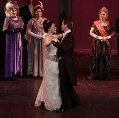 Elizabeth Telford (Eliza Doolittle), Nick Sandys (Professor Henry Higgins) in Light Opera Works' MY FAIR LADY June 4-12, 2016- at Cahn Auditorium in Evanston, IL. Photo: Joshua Lott http://www.chicagonow.com/show-me-chicago/2016/06/my-fair-lady-delights-at-light-opera-works/