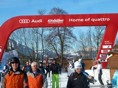 Audi signage in Kitzbuehel. (ATR) Add Around The Rings on www.Twitter.com/AroundTheRings & www.Facebook.com/AroundTheRings for the latest info on the #Olympics.