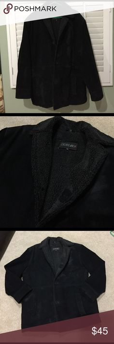 Men's Suede Overcoat Men's Casablanca brand Black Genuine Suede Leather Overcoat, Size XL. Lined I side with wool type fabric. Warm moderately Heavy coat. Good gently used condition, no holes, rips, tears or missing buttons. It is due for a Leather dry Clean, there are some spots throughout that appear to be able to come out upon cleaning.Make an offer.  20% off 3+ items in my closet. Bundle & Save! Men's clothing. Casablanca Jackets & Coats