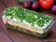 Sałatka wiejska Slow Food, Guacamole, Salad Recipes, Salads, Lunch Box, Food And Drink, Menu, Cheese, Ethnic Recipes