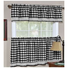 "Found it at Wayfair - Buffalo Check Gingham "" Curtain Valance and Tier Set"