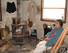 Pine Ridge Reservation- Inside of a typical house. This is what the Native people got in exchange for the land the white man wanted.