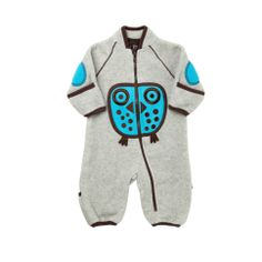 ej sikke lej Owl Fleece Playsuit
