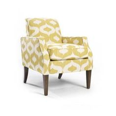 Olson 'Sunflower' Patterned Modern Arm Chair