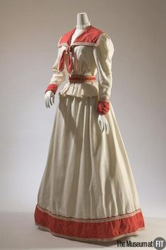 Haas Brothers dress ca. 1895 From the Museum at FIT
