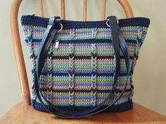 Hey, I found this really awesome Etsy listing at https://www.etsy.com/listing/519744225/crochet-shoulder-bag-navy-blue-khaki