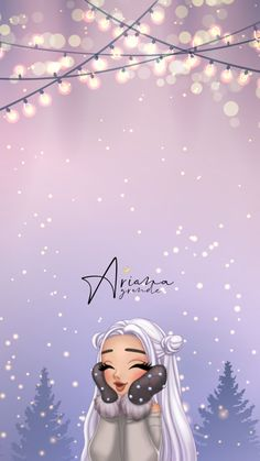 Ariana Christmas - Jessica W. Ariana Grande Fotos, Ariana Grande Anime, Ariana Grande Drawings, Ariana Grande Pictures, Cute Wallpaper Backgrounds, Tumblr Wallpaper, Girl Wallpaper, Cartoon Wallpaper, Cute Wallpapers