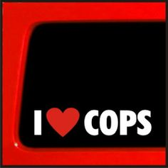 I love Cops sticker heart haters funny vinyl sticker decal JDM Police import Sticker Connection