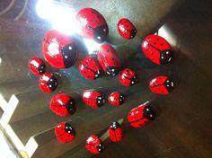 Piedritas pintadas ladybug