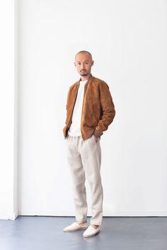 DE BONNE FACTURE - Spring/Summer 2018 - Imgur Japanese Denim, Japanese Cotton, Safari Jacket, Lookbook, Henley Shirts, Sports Jacket, Oversized Shirt, Khaki Green, Lambskin Leather